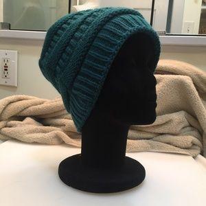 WARM FUZZY BLUE TEAL BEANIE CAP